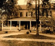 Sepia color of President's house probably ca. 1917