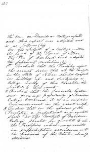Handwritten minutes