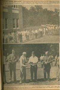 two photos of the book brigade