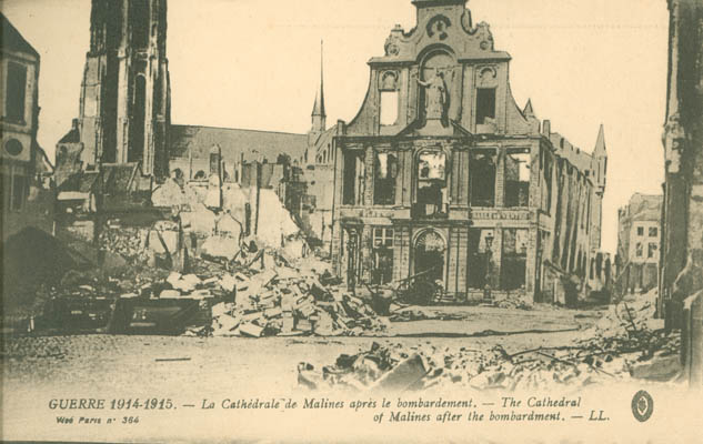 After the bombing, the Cathedral of Maines