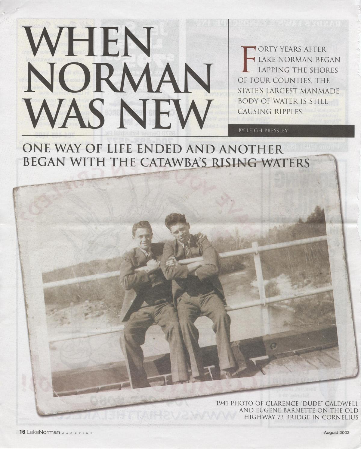 August_2003_Lake_Norman_Magazine_1