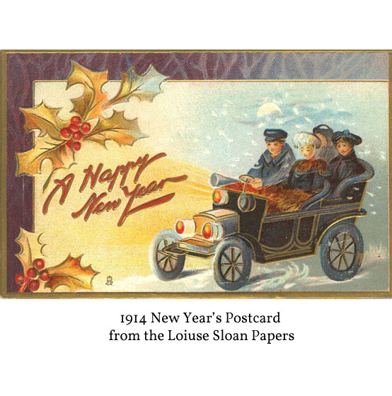 1914 New Years Postcard from the Sloan Collection