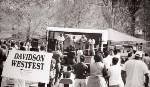 Gospel singers draw a crowd at West Fest in Roosevelt Wilson Park.