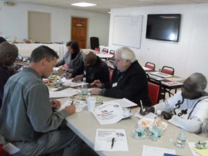 Community members working on event planning