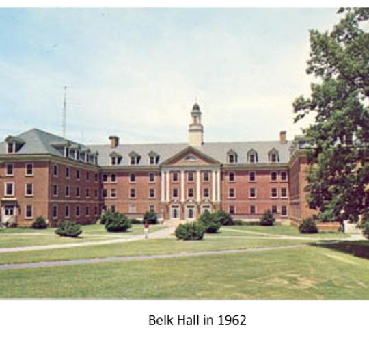 Belk Hall Dormitory in 1962