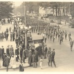 Davidson students celebrating the first Armistice Day with a parade in Charlotte