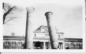 Columns from original Chambers Building coming down