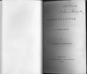 The Scarlet Letter. RBR's 1st edition from the Fugate Collection.