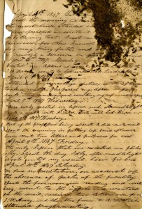 First page of A. A. James' diary - a little worse for age. Happily the rest of the pages are in fine condition.