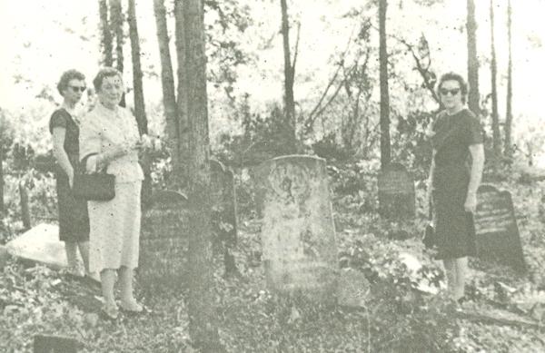 Original site of Baker Cemetery