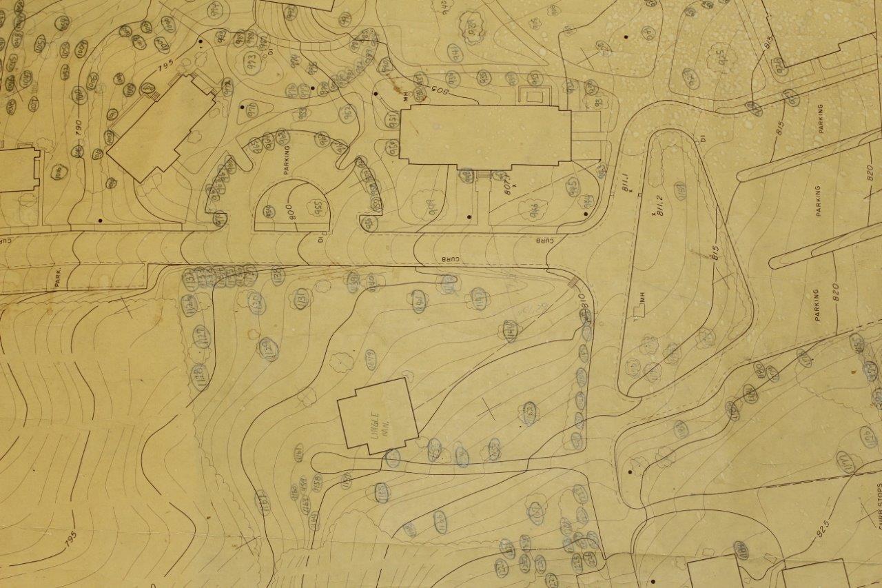 1983-84 campus shrub map.