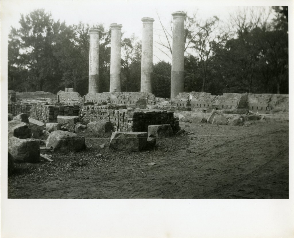 Ruble, bricks, and the columns form Old Chambers standing