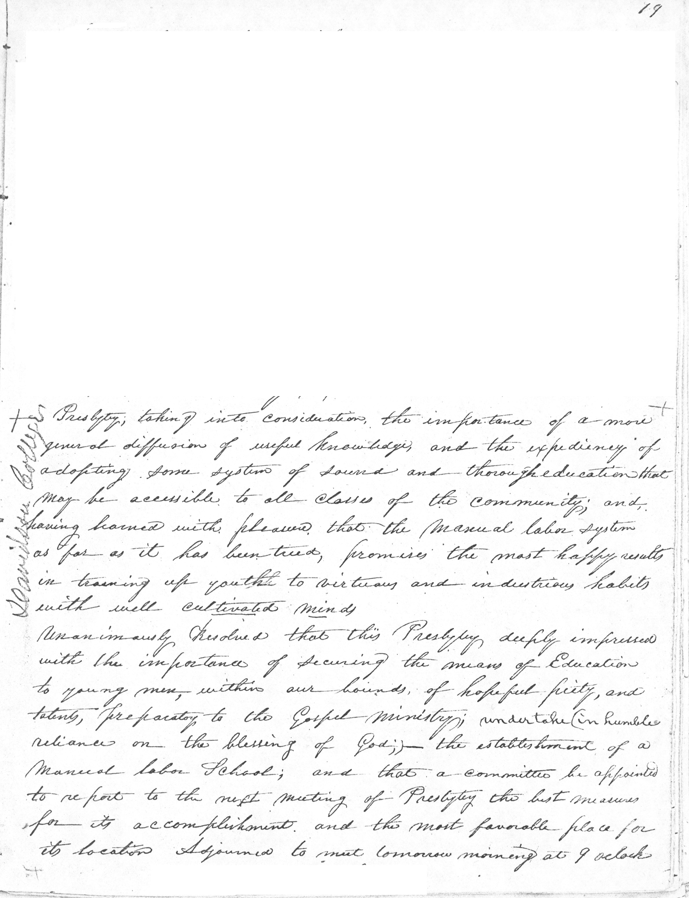 Concord Presbytery Minutes-March 1835.