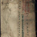 "Vellum manuscript used as ""scrap"""