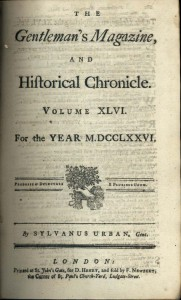 The Gentleman's Magazine 1776 title page