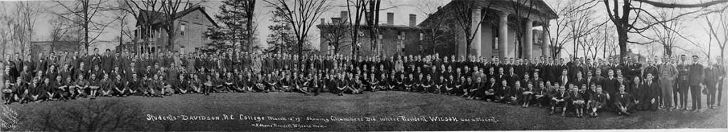 Davidson student body in 1917