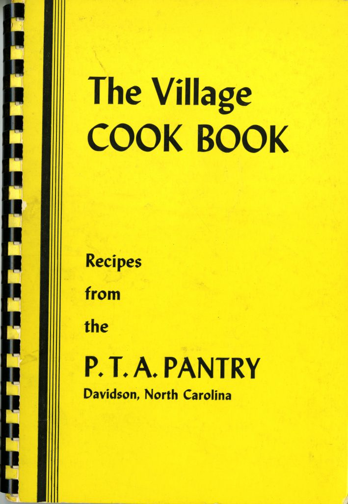 """The cover of the 1965 PTA cookbook, """"The Village COOK BOOK Recipes from the P.T.A. Pantry"""""""
