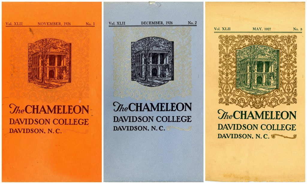 The first three covers of the new run of The Chameleon, showing the repeated design.