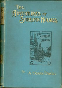 "The cover of ""The Adventures of Sherlock Holmes"""