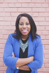 Tiffany Waddell Tate standing in front of Career Development