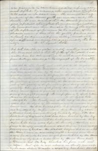 This image is a scan of the first page of faculty minutes from February 1863. The typescript is in the main body of the text.