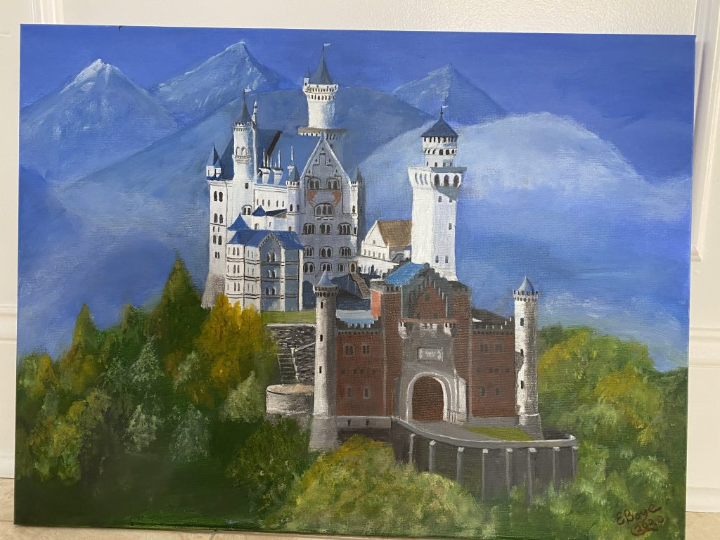 Painting of castle.