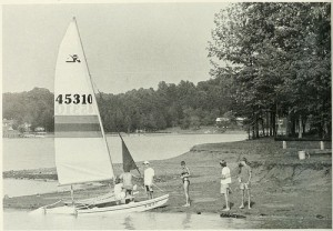 Sailboat on shore